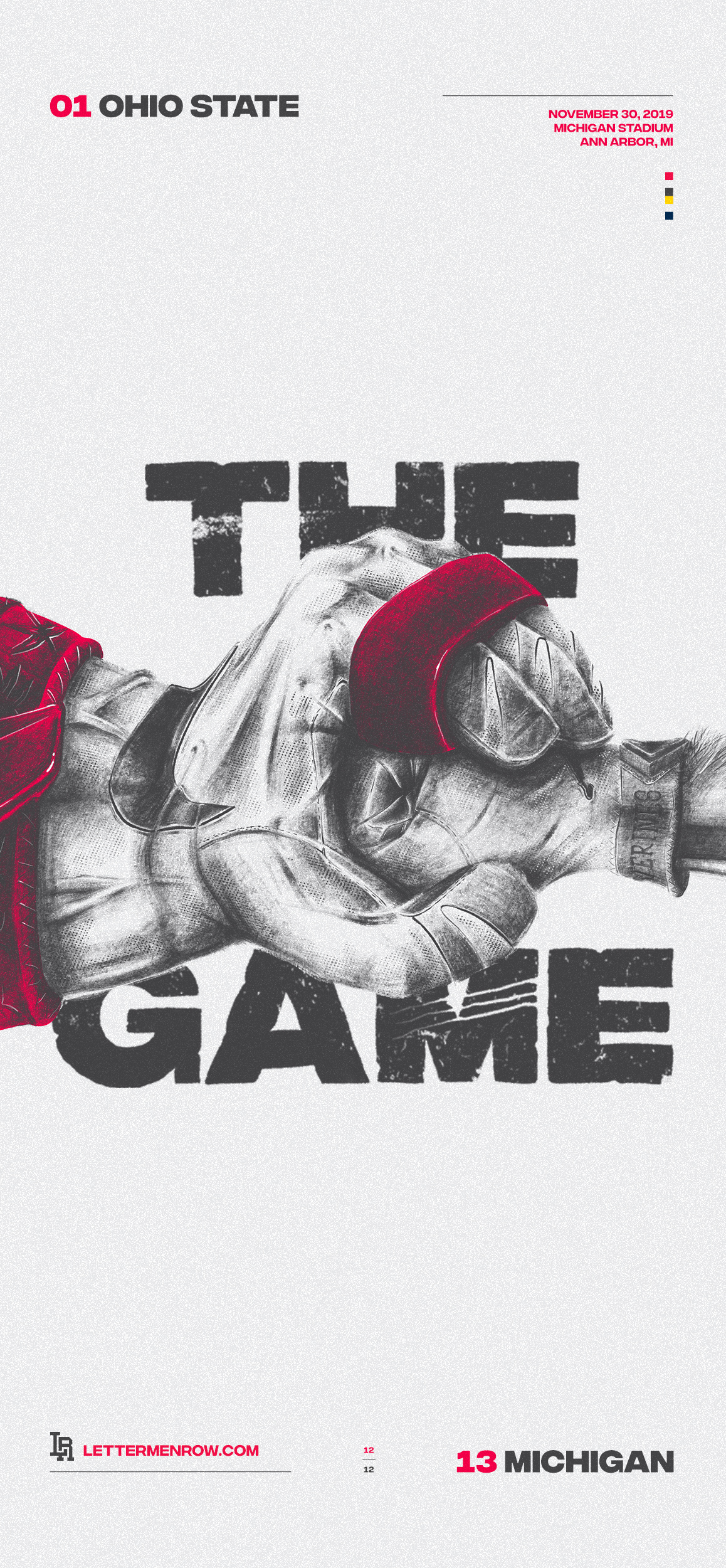 Ohio State-Ohio State football-buckeyes-game poster-iphonex
