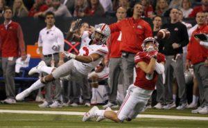 Damon Arnette breaks up pass-Damon Arnette-Ohio State cornerback-Ohio State Buckeyes-Big Ten championship game