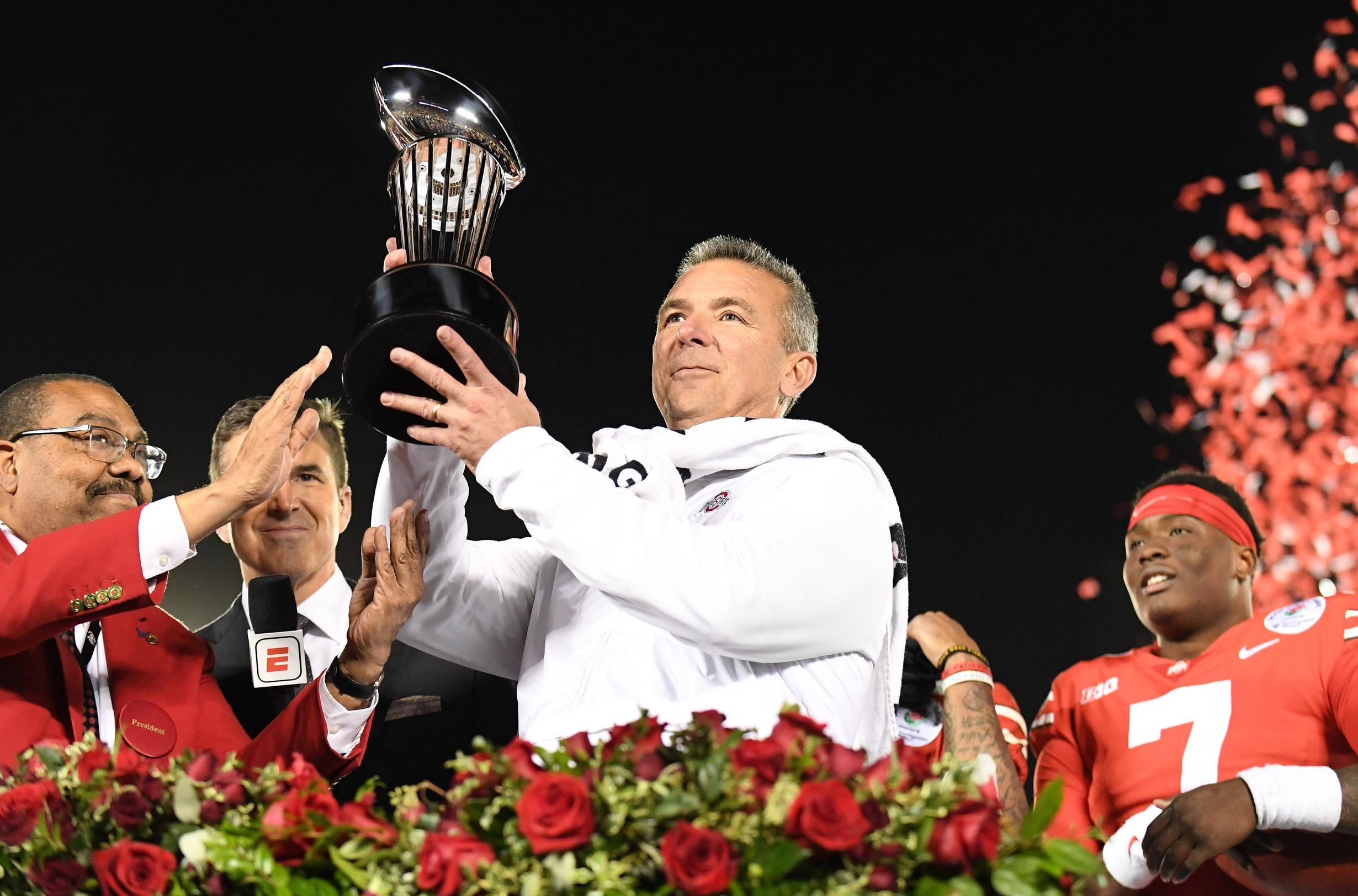Urban Meyer Rose Bowl - Gary A. Vasquez USA TODAY SPORTS