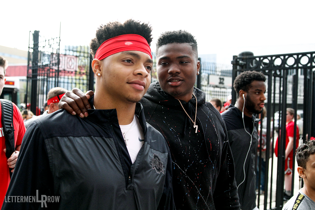 Justin Fields and Dwayne Haskins by Birm