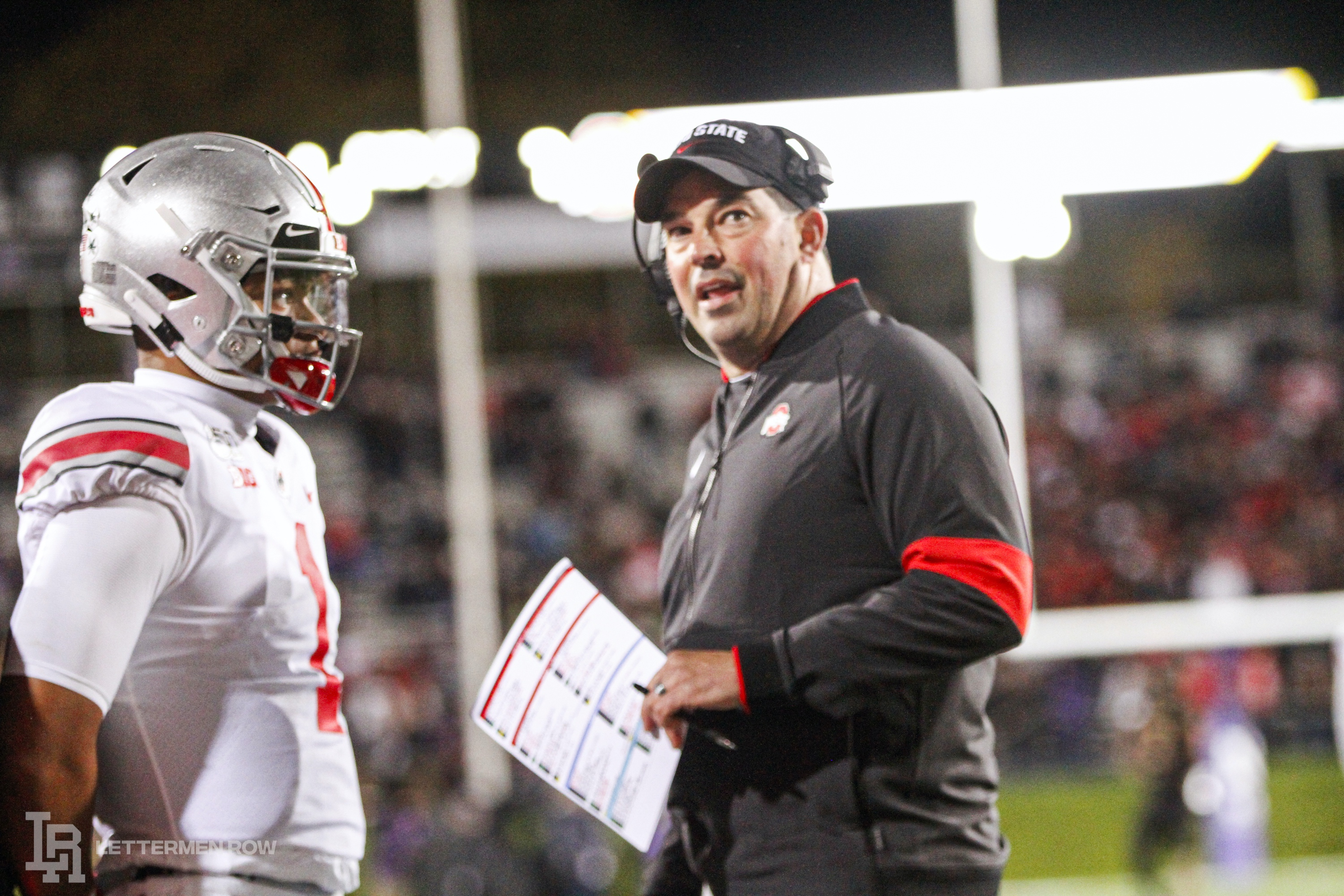 Ryan Day and Justin Fields by Birm-Lettermen Row