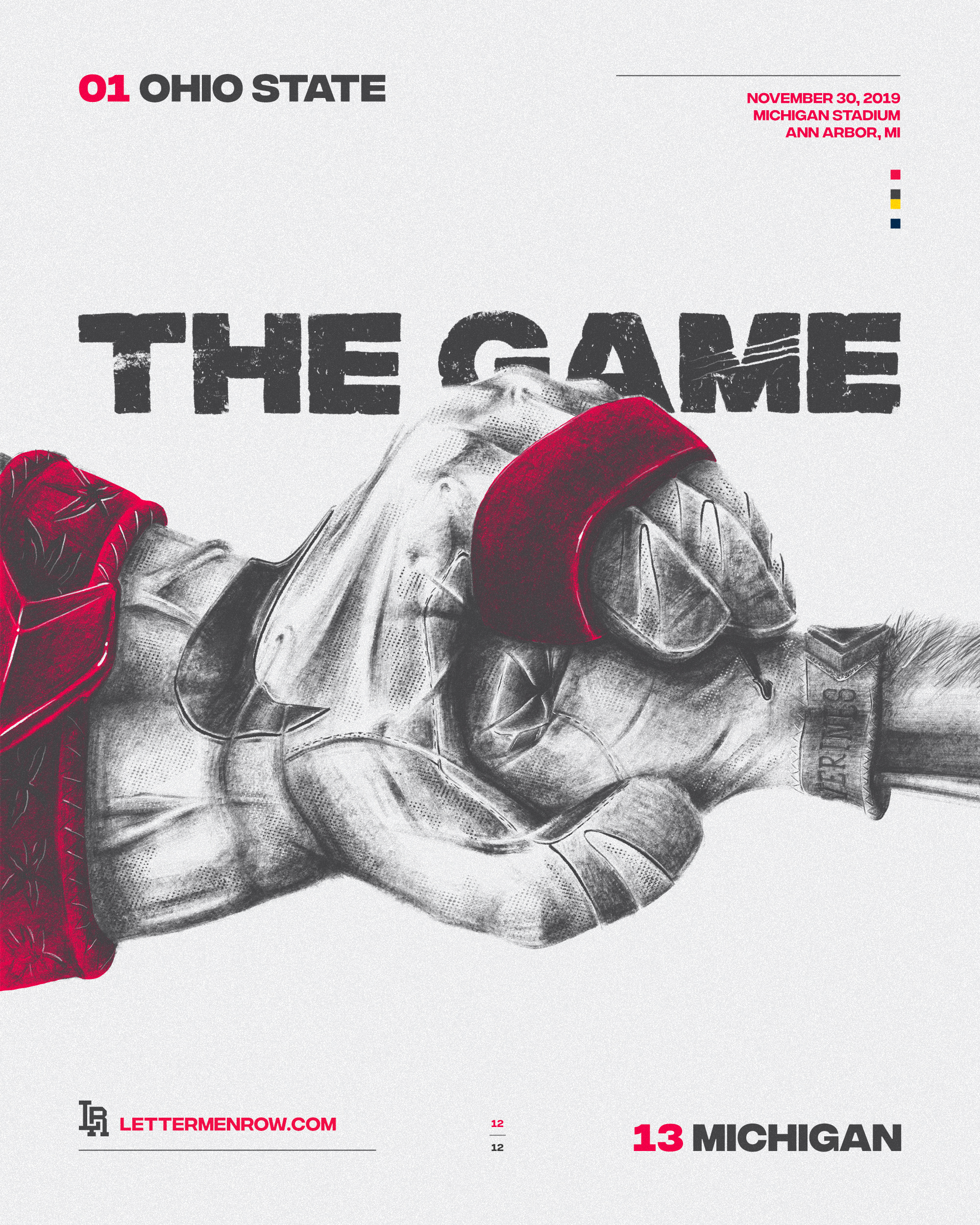 Ohio State-Ohio State football-buckeyes-game poster