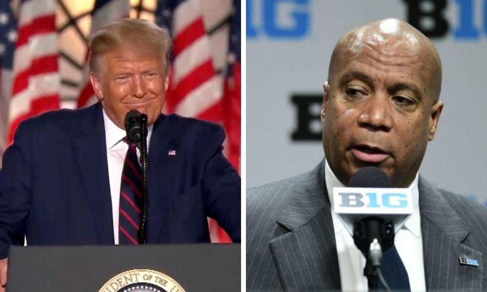 Donald-Trump-Kevin-Warren-Big-Ten