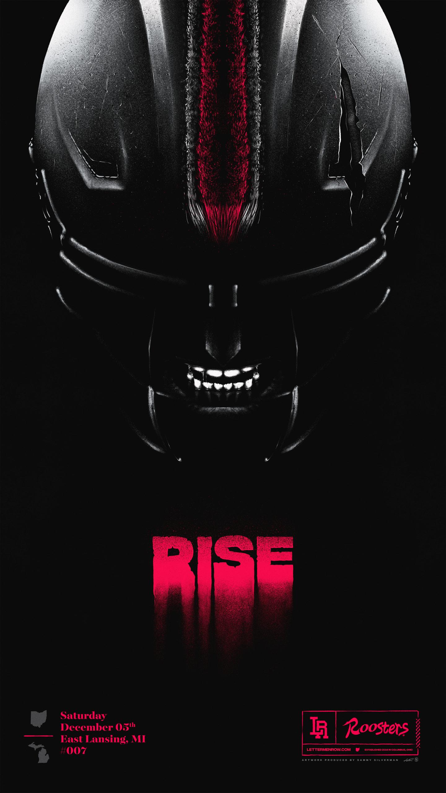 Game poster-Ohio State-Ohio State football-Buckeyes